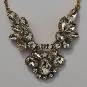 J Crew Factory Clear Crystal Bauble Necklace